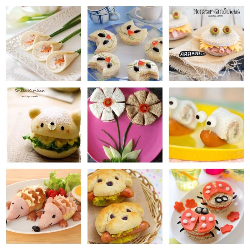 25 Creative Sandwich Ideas That Kids Will Love Creative Sandwich Food Art For Kids Kid Sandwiches