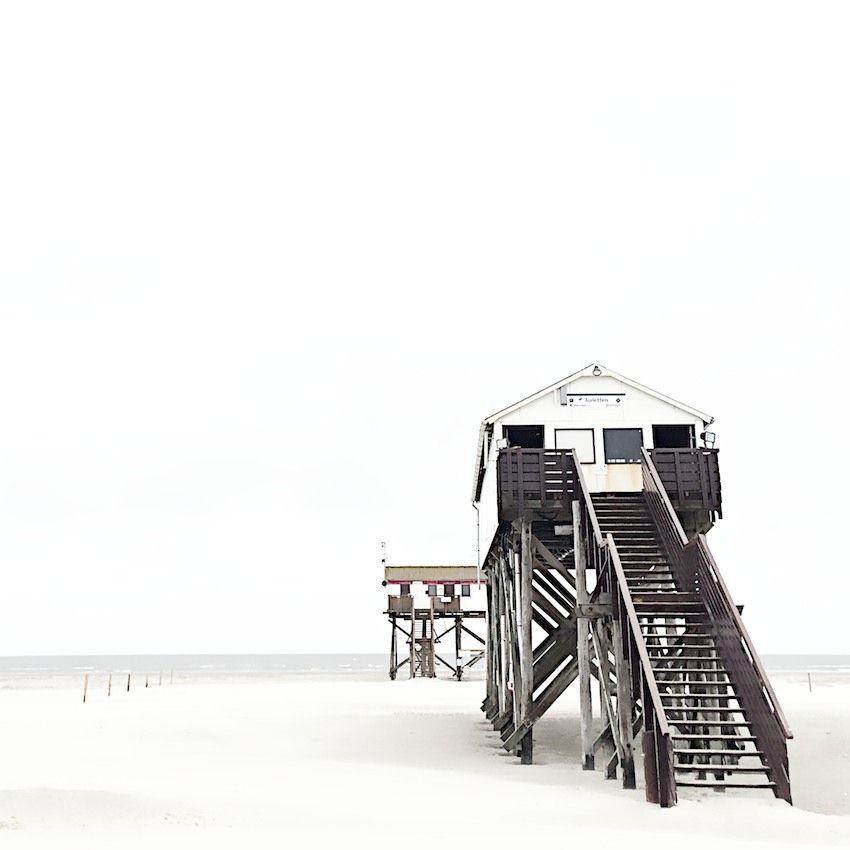 Stilts Houses Sankt Peter Ording Lebenslustiger Bilder Strandhauser