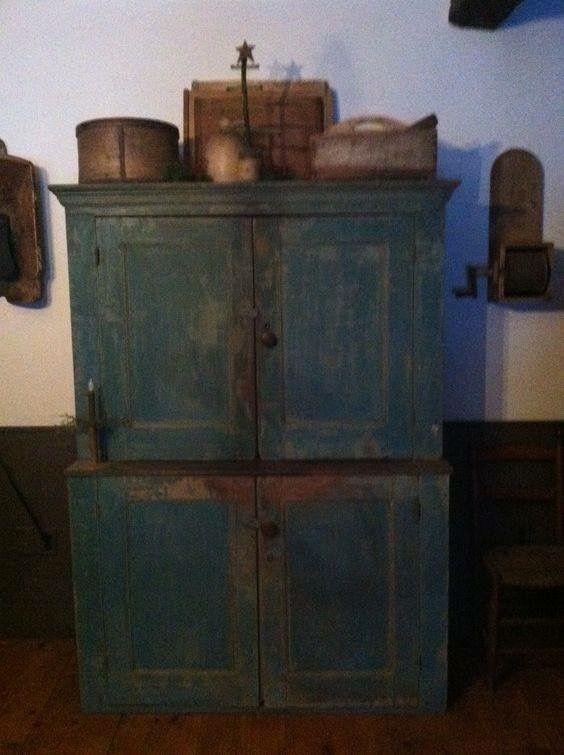 Blue Cupboard Primitive Decorating
