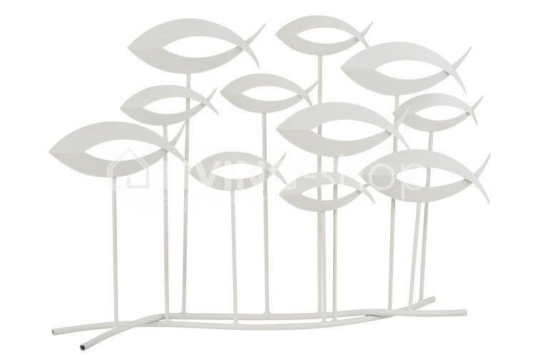 J Line Decoratieve Vissen Op Voet Open Metaal Decoratie Interieur Wonen