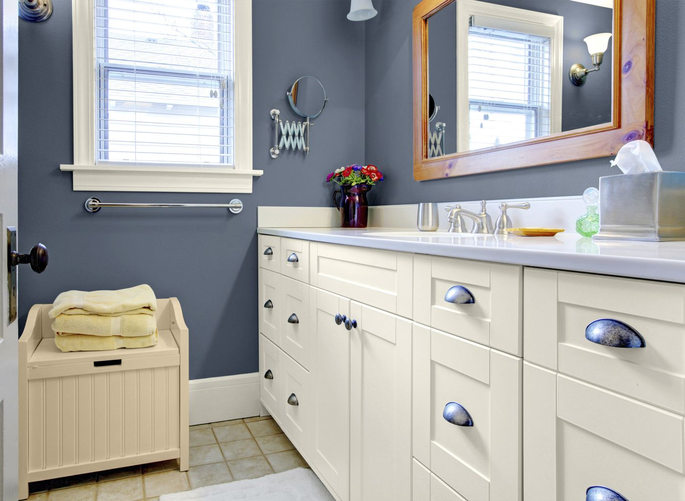 Glidden Shady Blue - Our Actual Bedroom Color