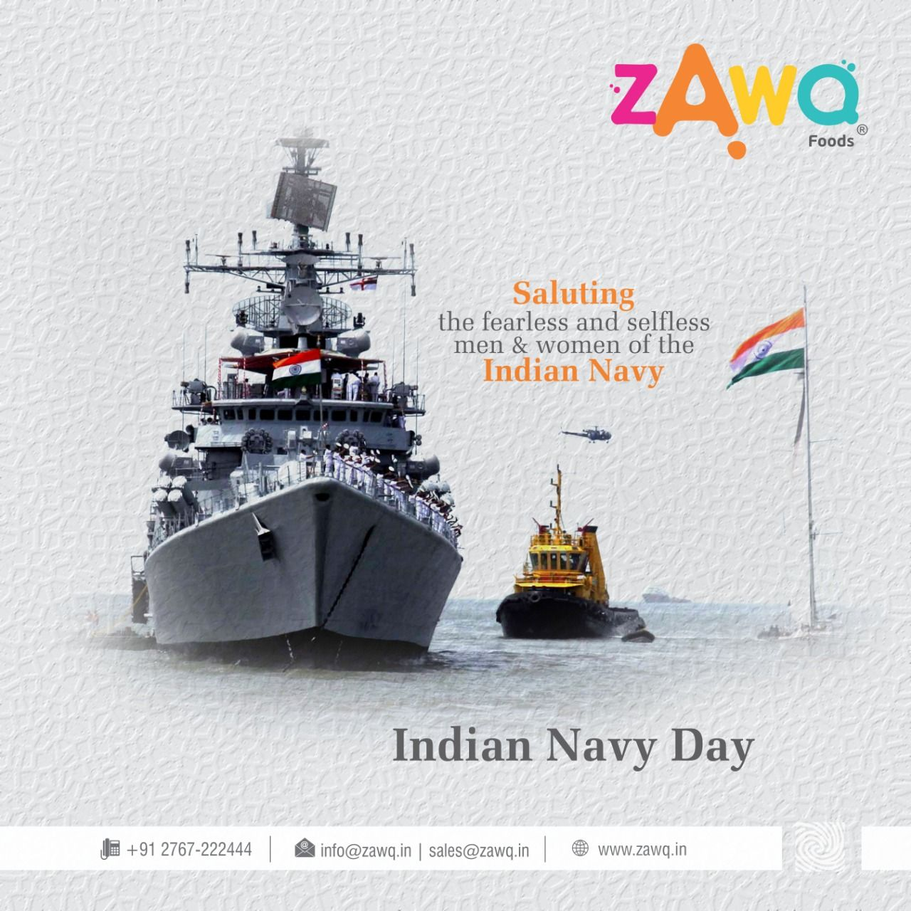 Saluting The Fearless And Selfless Men Women Of The Indian Navy Navy Day Of India Zawq Namkeen Instafood Snacks Foods Indian Navy Day Navy Day Image