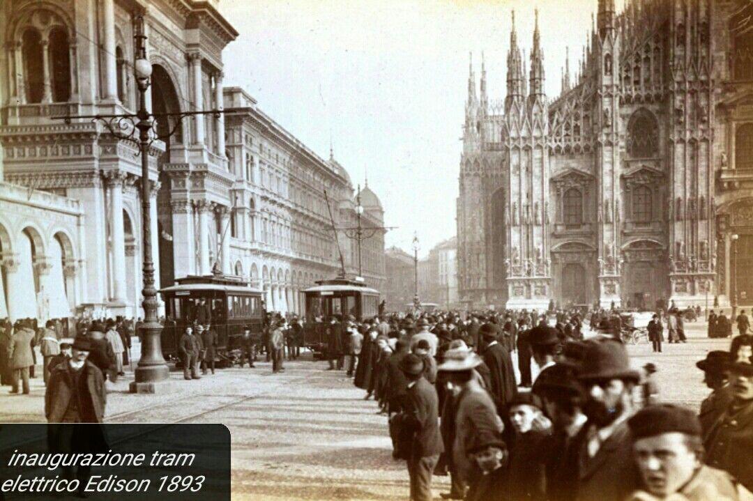 Inaugurazione tram elettrico Edison 1893