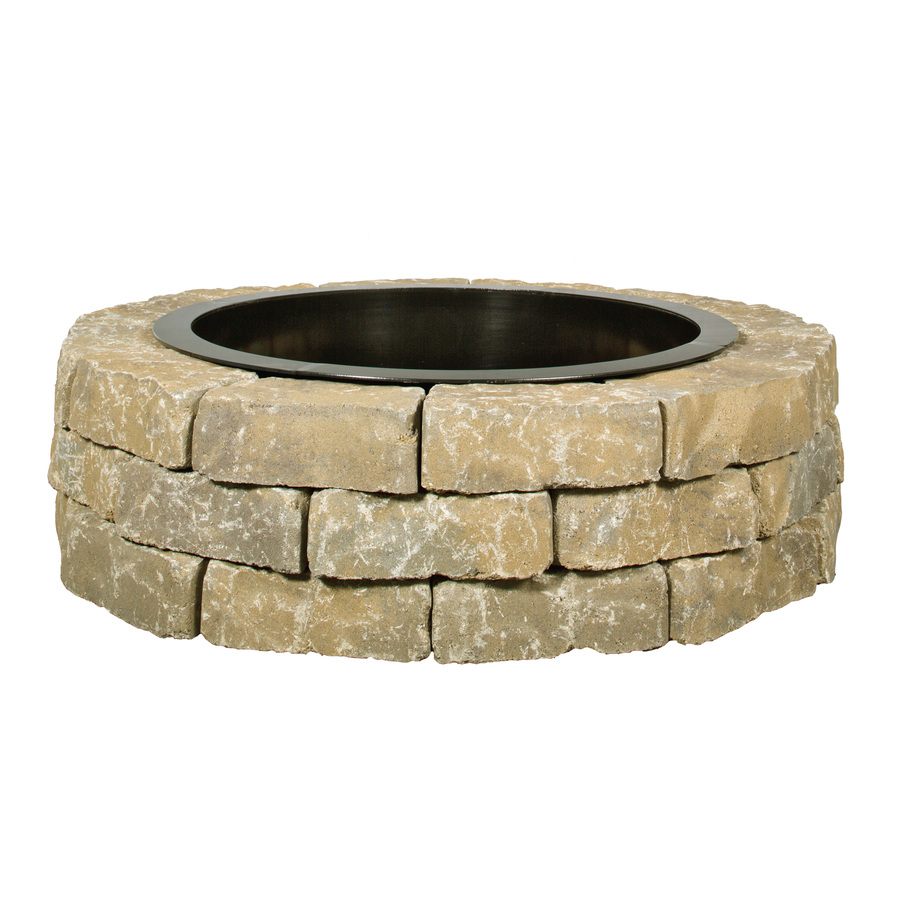 43.5in W x 43.5in L Peyton Concrete Firepit Kit at Lowes