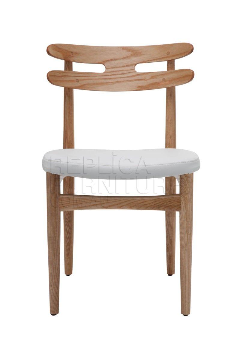 Bramin chair with white seat hw klein replica the for Danish design furniture replica uk