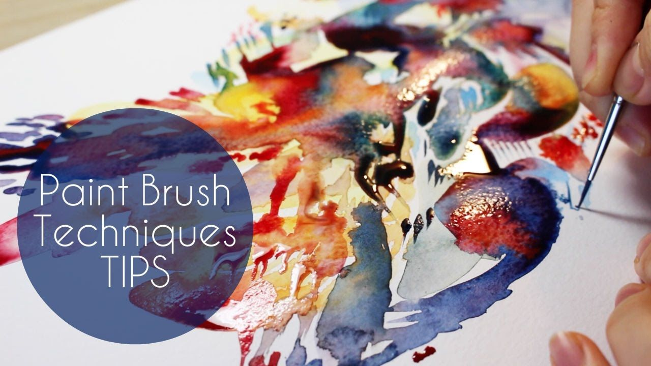 How I Use Filbert Paintbrush Watercolor Brush Tutorial