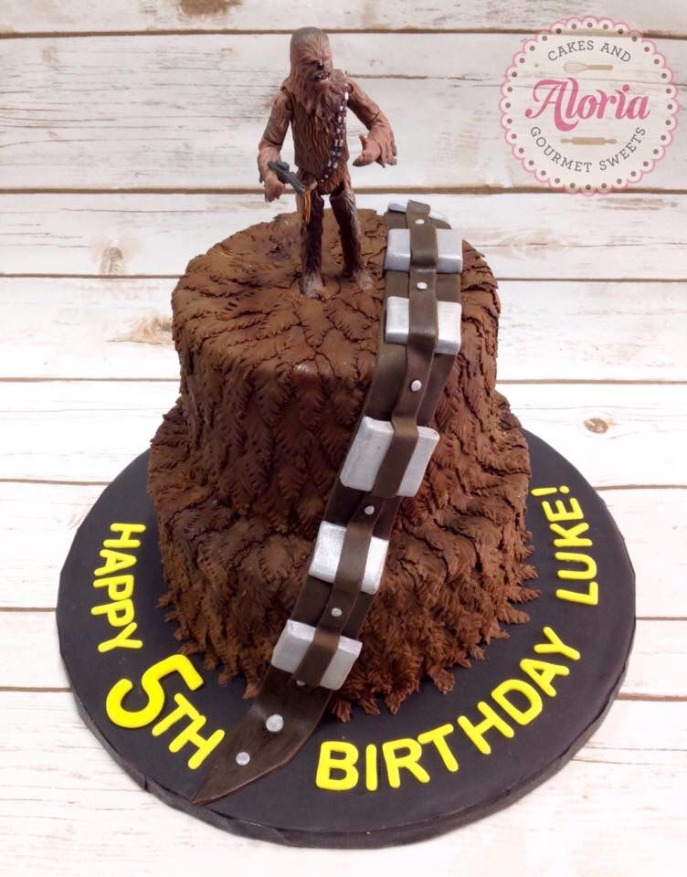 Star Wars Chewbacca Birthday Cake Birthday Cakes Pinterest