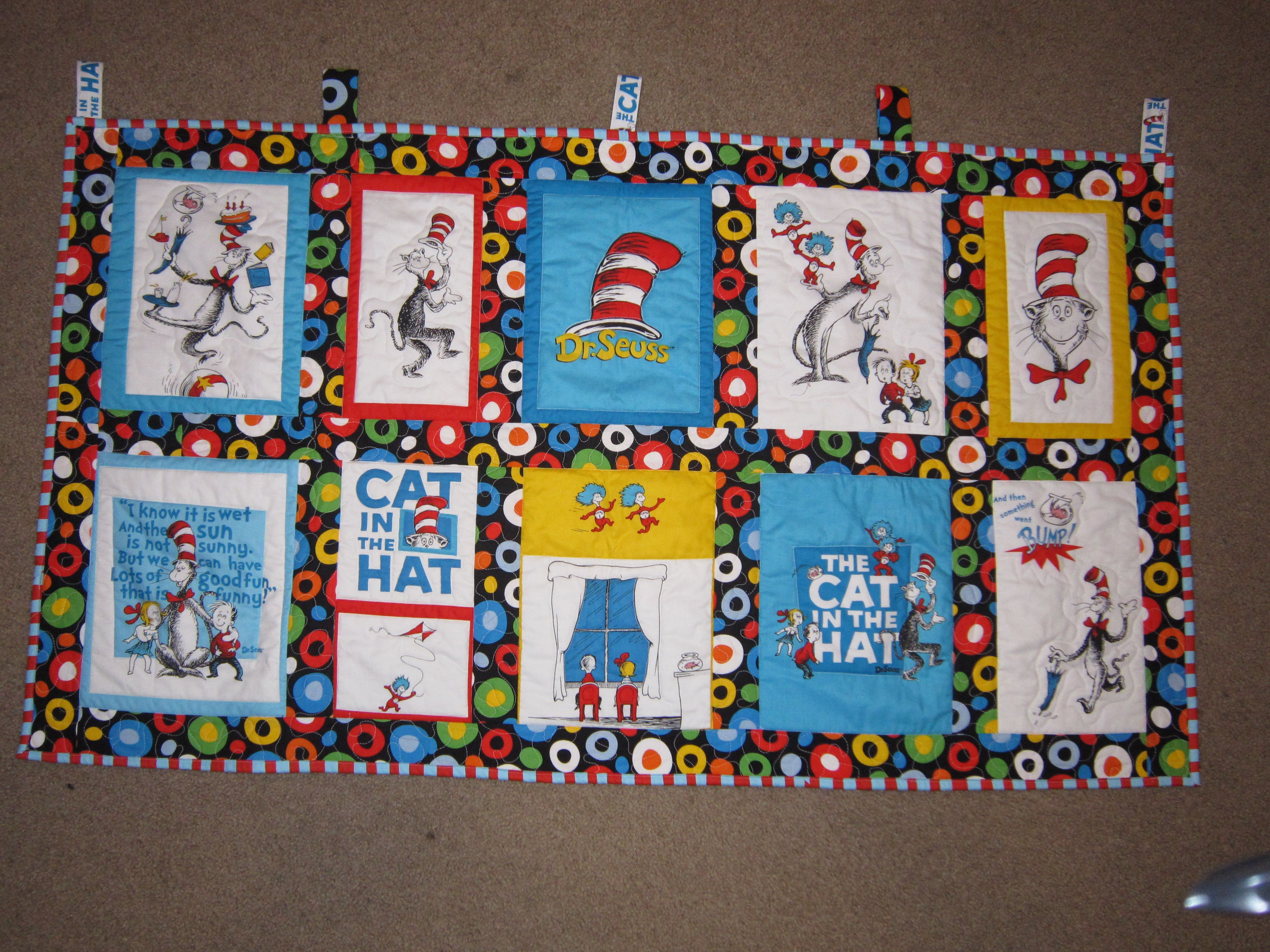 A Dr Seuss Quilted Wall Hanging For My Sister
