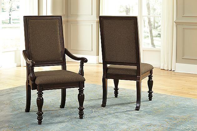 Dark Brown Roddinton Dining Room Chair   Ashley Furniture ...
