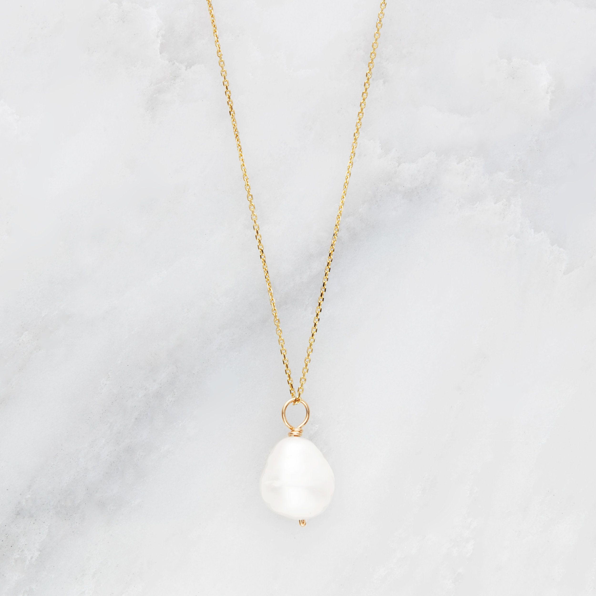 in ct sapphire single garland gold necklace and pendant itm white pearl freshwater