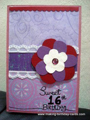 16th Birthday Card Ideas My Birthday Pinterest Sweet Sixteen