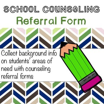 School Counseling Referral Form Counseling! Pinterest - referral form