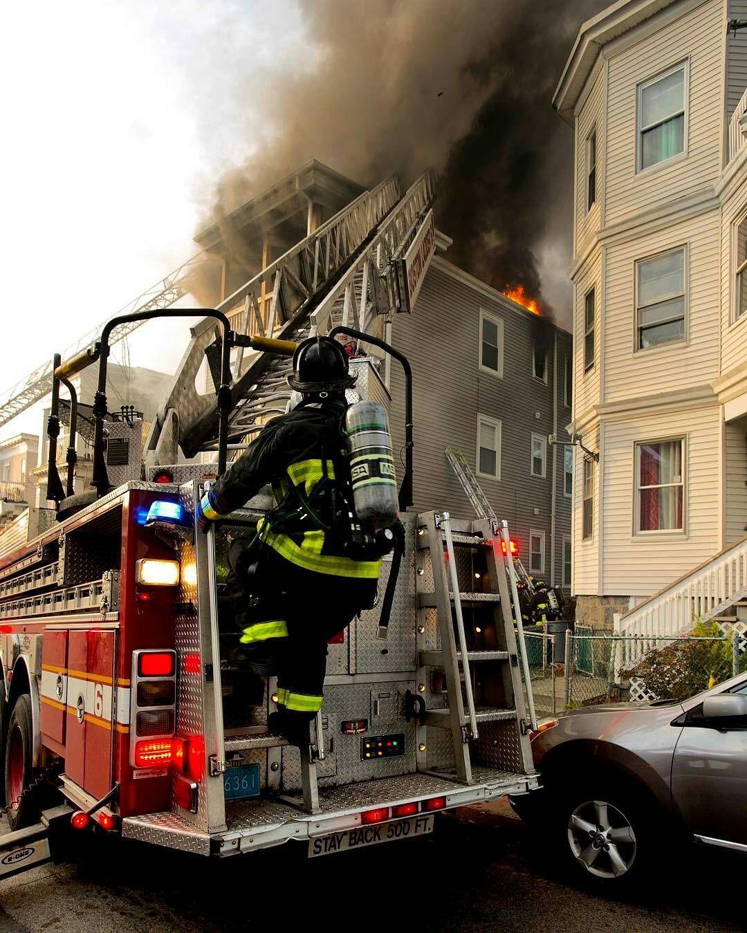 Featured Post Firefightingphotography Bostonfire Ladder6 Fuller St Dorchester Copyright John Cetri Firefighter Pictures Fire Trucks Firefighter Paramedic