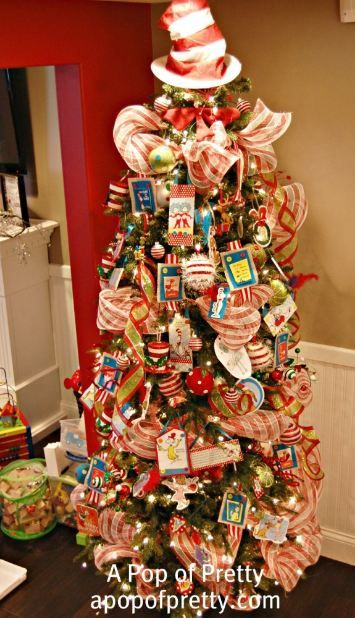 A Pop of Pretty-Dr. Seuss Tree | Tree toppers, Christmas tree and Cat