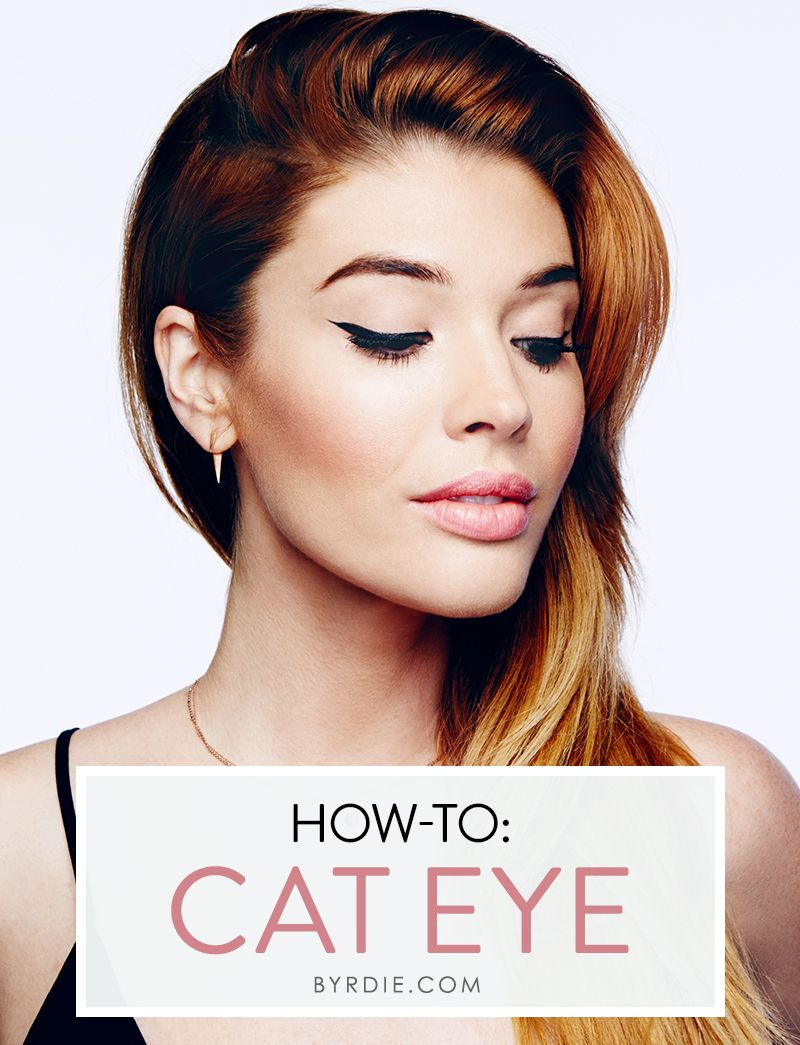 A step-by-step #tutorial to creating the best cat eye of your life, courtesy of celebrity #makeup artist, Lauren Andersen.