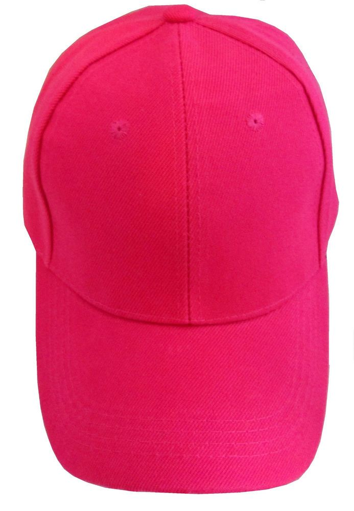 New Hot Pink Baseball Truckers Hat Cap No Logo Womens  BaseballCap ... 301f4e4d8f0