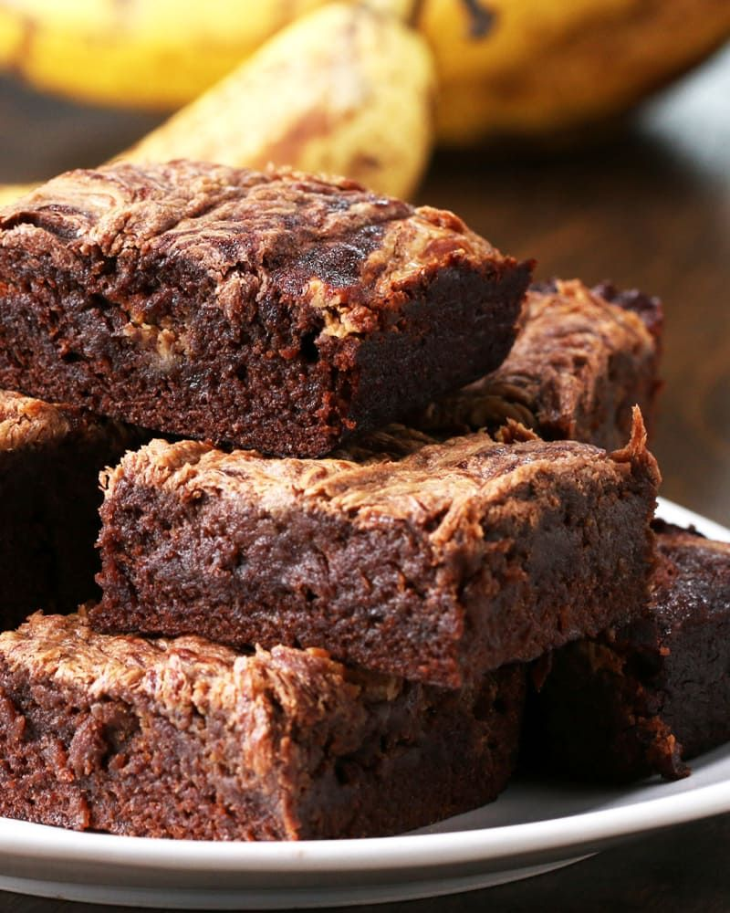 Photo of Peanut Butter Banana Brownies Recipe by Tasty