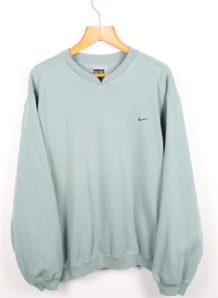 For Sale Vintage Nike Blue Sweatshirt Jumper Athletic Air Sport Xl Trendy Sweatshirt Sweatshirt Outfit Winter Sweatshirt Outfit