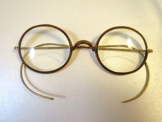 ecc2a182920 Antique 1920 Bifocal Eyeglasses Bakelite Celluloid Faux Tortoise ...