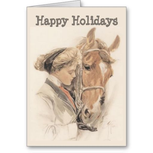 Equestrian christmas cards horse and lady vintage christmas card equestrian christmas cards horse and lady vintage christmas card zazzle yadclub Choice Image