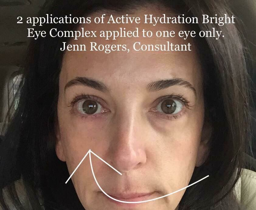 47a95c0b7ee Active Hydration Bright Eye Complex results on one eye only! WOW!!! ❤  rebeccahouser.myrandf.com