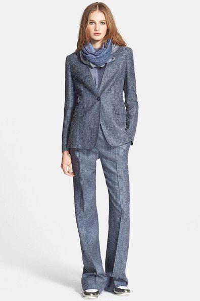 'Lampone' Silk & Linen Blend Jacket