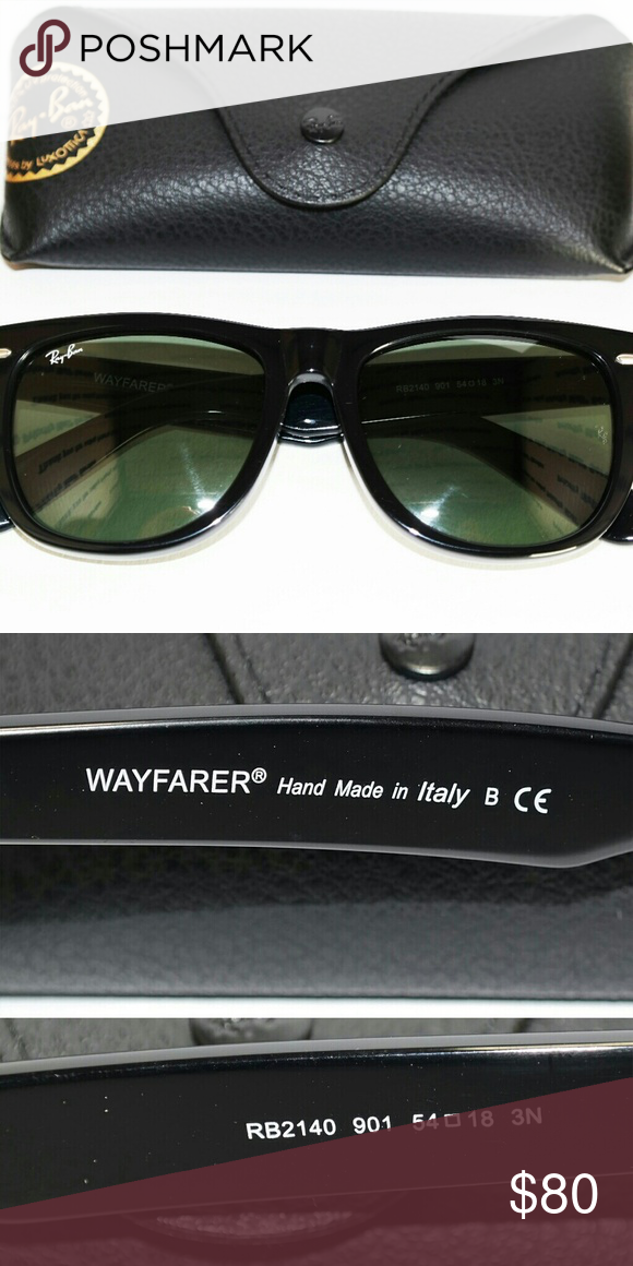 2c328cd333 Classic Black Wayfarer Ray Ban 54m RB2140 G15 lens Brand new classic  Wayfarer Ray Ban sunglasses