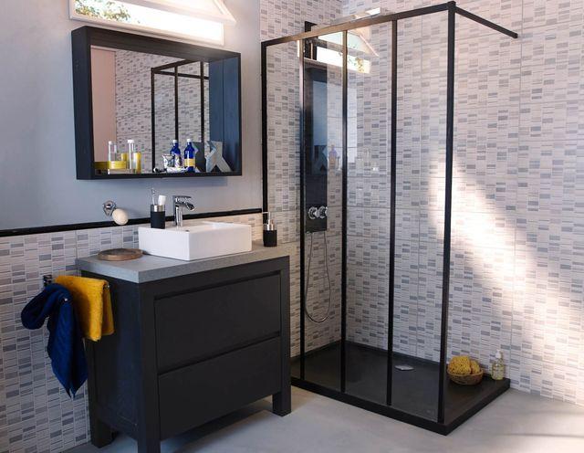 id e d co salon chambre cuisine int rieur industriel pinterest paroi de douche fixe. Black Bedroom Furniture Sets. Home Design Ideas