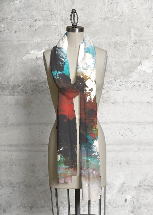 Modal Scarf - SUNFLOWERS AND TUQUOISE by VIDA VIDA