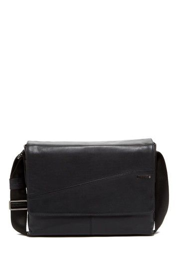 aedf953a6f5c3a Calvin Klein Leather Messenger Bag by Calvin Klein on @HauteLook ...