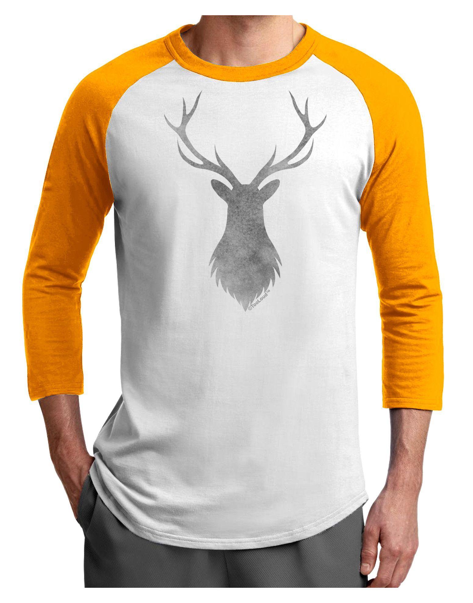 TooLoud Majestic Stag Distressed Adult Raglan Shirt