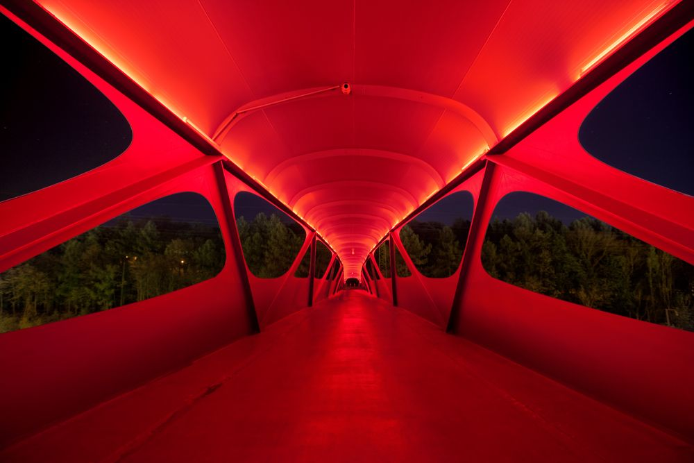 Bridge in Esch / Metaform Architects; (again, loving the 'pop' of red integrated into the design)