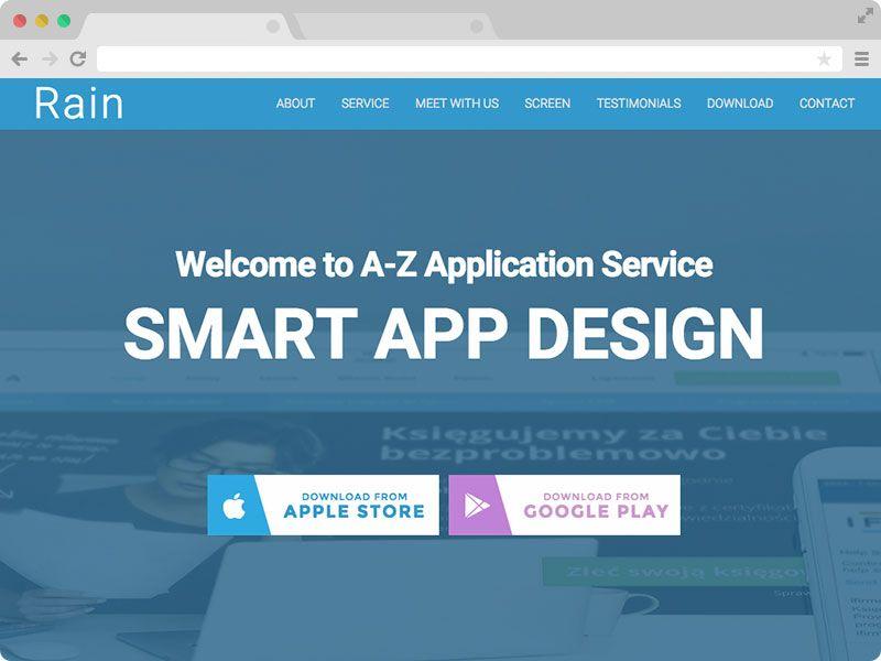 Rain - Free Responsive HTML5 App Landing Page Template