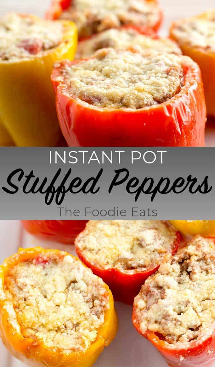 Instant Pot Stuffed Peppers Recipe In 2020 Stuffed Peppers Pressure Cooker Stuffed Peppers Gluten Free Instant Pot