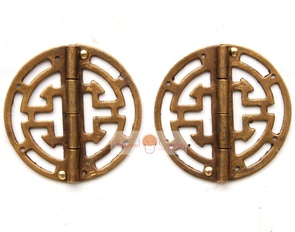 Aliexpress.com : Buy 2 Brass Hinges For Jewelry Box Chinese Style Hardware  Cabinet Trunk