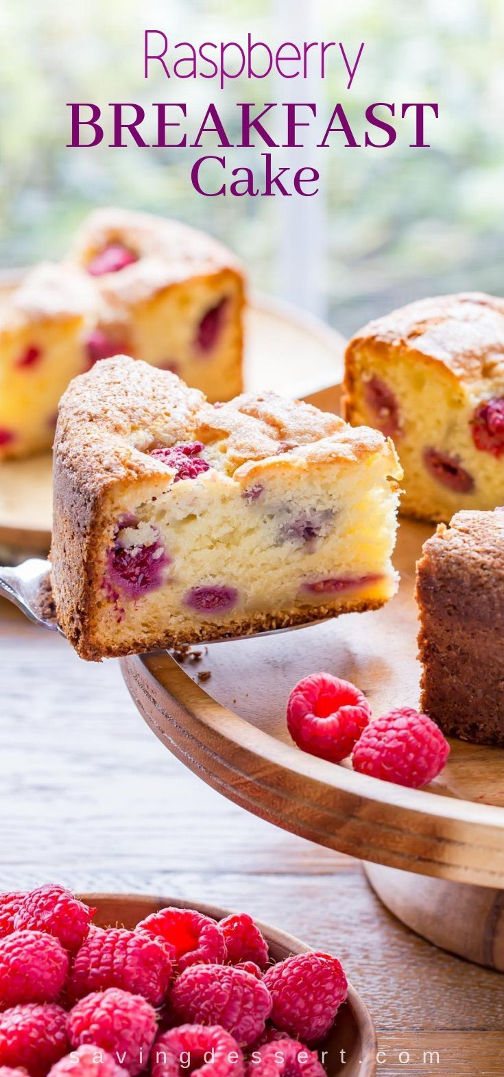 Raspberry and ricotta breakfast cake – a deliciously moist and fluffy berry …