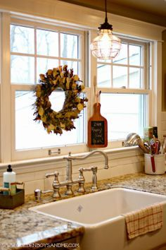 pendants hanging over kitchen sink - Google Search | Otway Livin ...