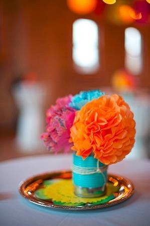 Pin By Project Wedding On Wedding Centerpieces Paper Flower Centerpieces Mexican Party Theme Mexican Paper Flowers
