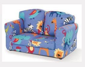 Just 4 Kidz Sofa Roar Blue Robust Practical Childrens In A Fun Colourful Design Ideal For Reading W