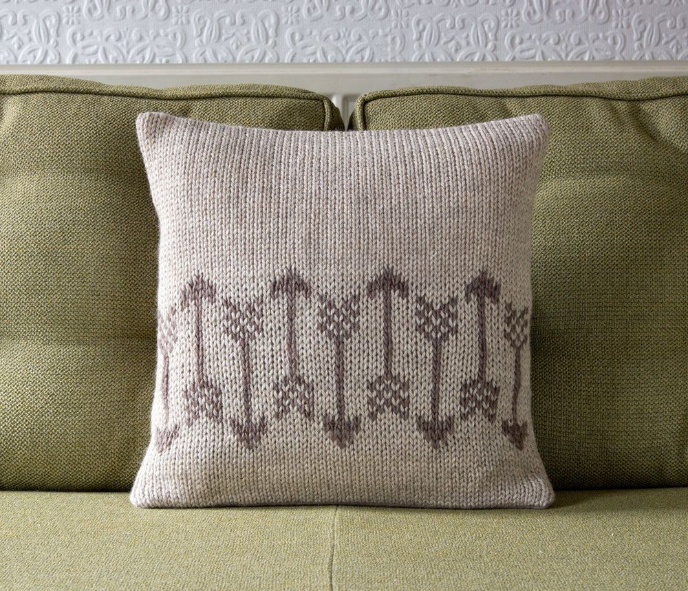 Arrow pattern knitted decorative cushion pillow cover archer