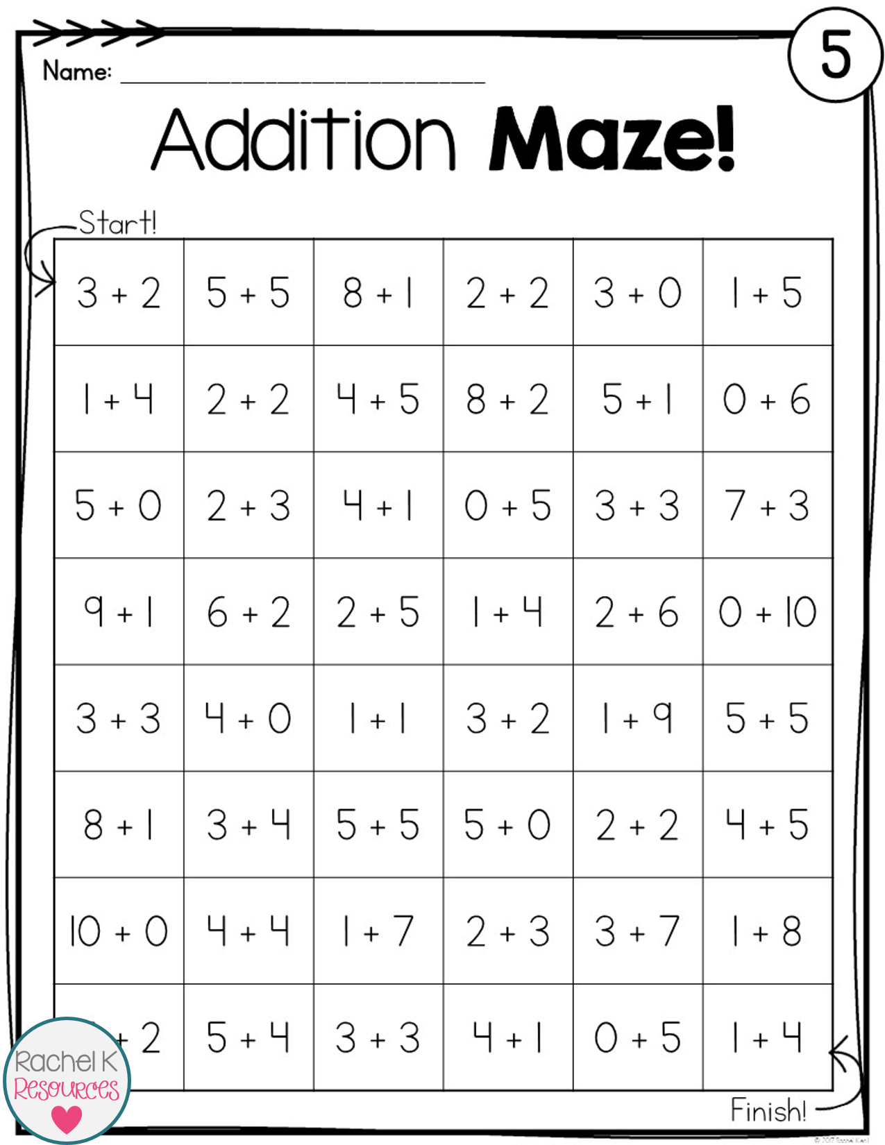 Addition Practice Mazes Addition facts, Math books, Word