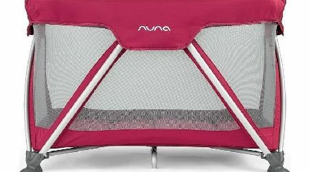 Nuna Sena Mini Travel Cot Rasbery After A Busy Day Away From Home