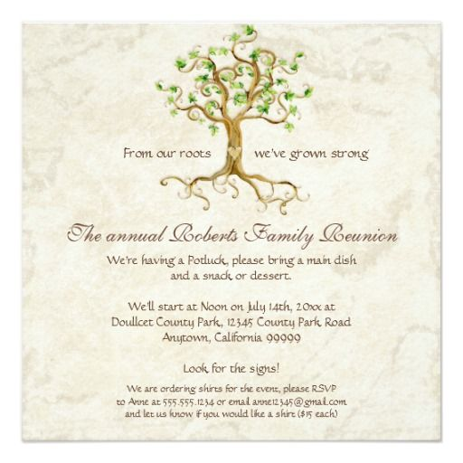 family reunion invitations heart tree family reunion - best of invitation letter of conference