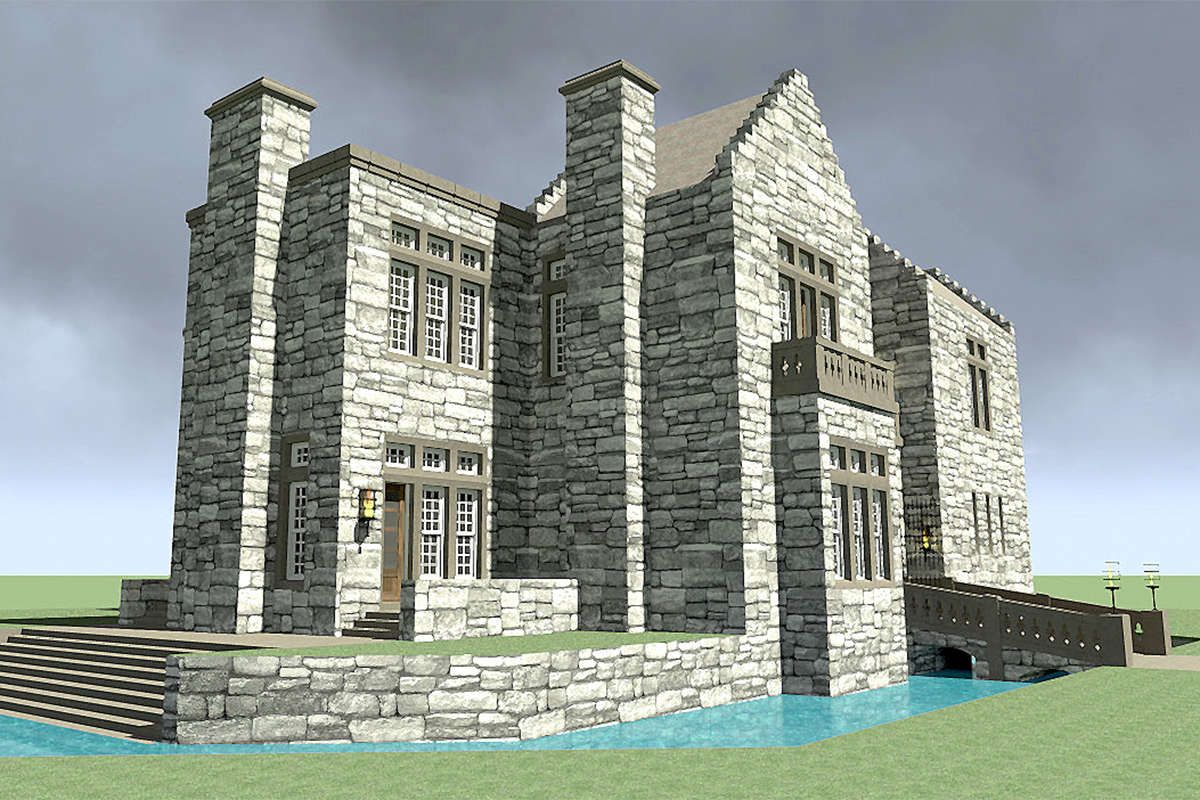 House Plan 028 00114 Luxury Plan 4 357 Square Feet 3 Bedrooms 2 Bathrooms In 2021 Castle House Plans Castle Plans Castle House
