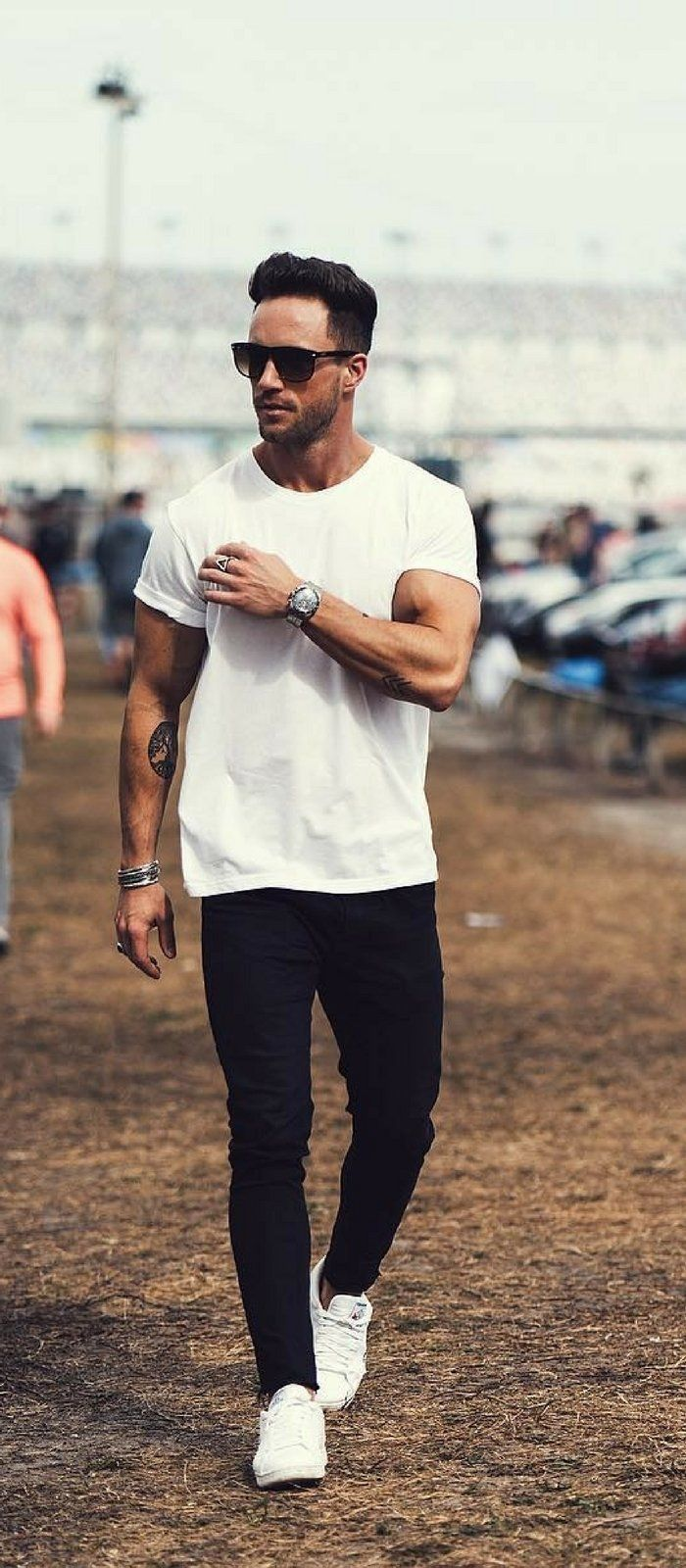 58049355 5 Casual Outfits That Aren't Boring in 2019 | Styles | Fashion, White outfit  for men