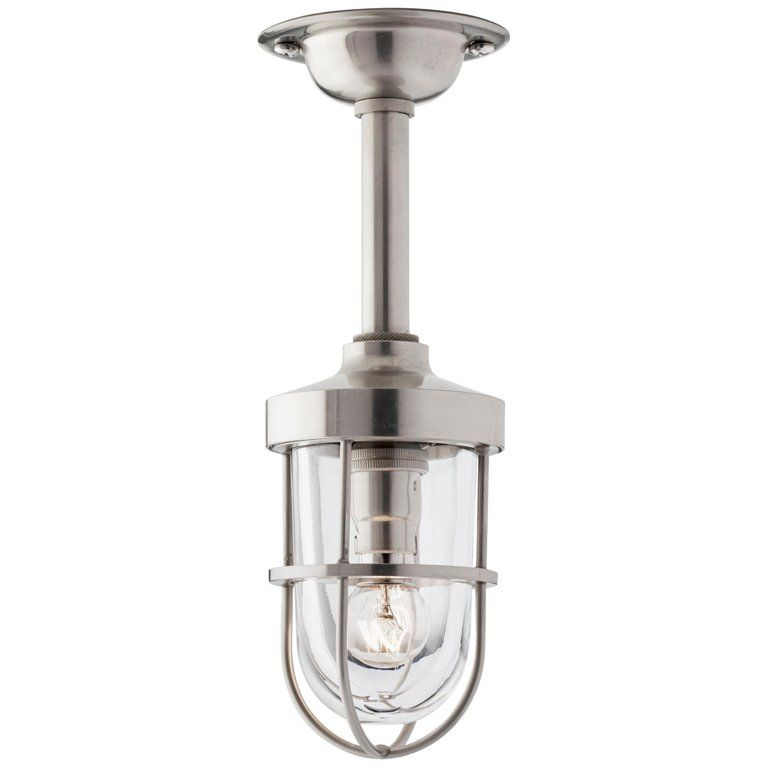 Tekna Bounty 12v Pendant Light With Brushed Nickel Finish And Clear Glass Brass Ceiling Light Glass Ceiling Lights Clear Glass