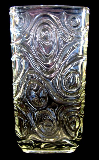 1968 Sklo Union/Hermanova Hut 'Woodgrain' Glass Vase by Frantisek Peceny