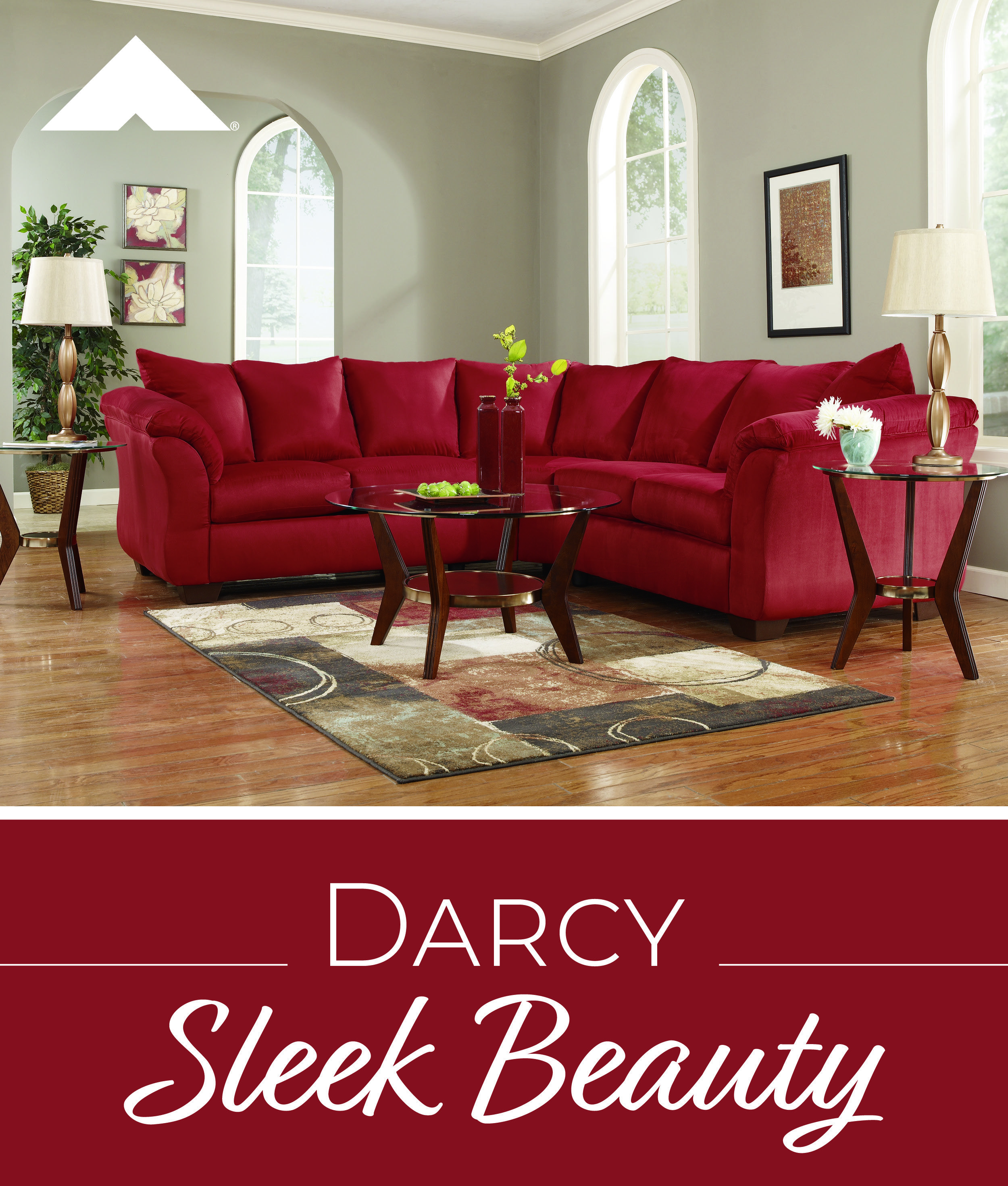 Magnificent Darcy Salsa Red Sectional By Ashley Furniture Cjindustries Chair Design For Home Cjindustriesco