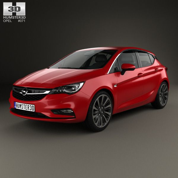 Vauxhall Mokka X Active Turbo S S Hatchback: Opel Astra K 2016 3d Model From Humster3D.com