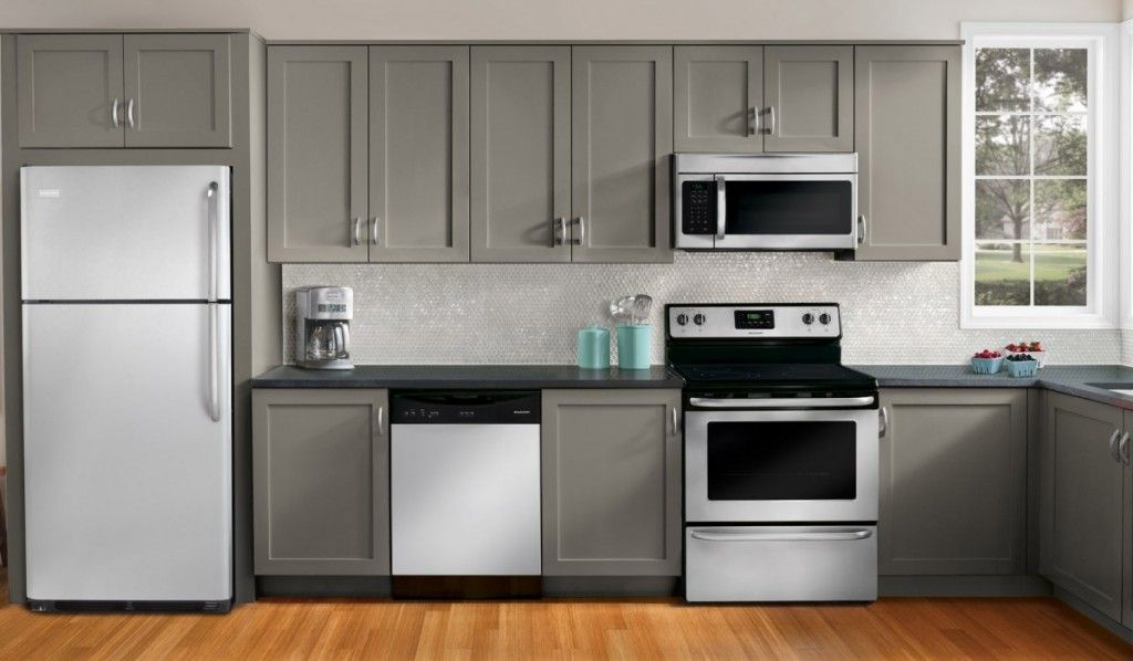 The feeling of gray kitchen cabinets island idea family for Kitchen appliance layout ideas